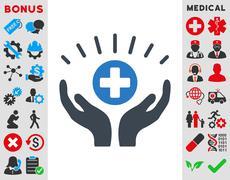 Stock Illustration of Medical Prosperity Icon