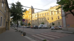 The Holy Trinity Roman Catholic Church in Cluj-Napoca Stock Footage