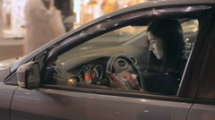 Making Call in Car - stock footage