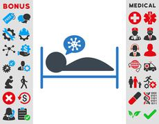 Patient Bed Icon Stock Illustration
