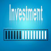 Investment blue loading bar - stock illustration