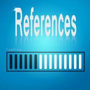 References blue loading bar - stock illustration