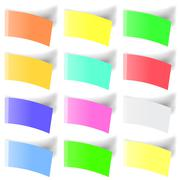 Set of Colorful Notes - stock illustration