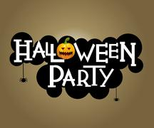 Halloween party text design Stock Illustration