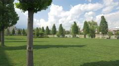 The beautiful Iulius Park in Cluj-Napoca Stock Footage
