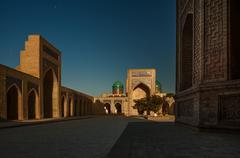 Inside the complex of buildings. Uzbekistan Stock Photos