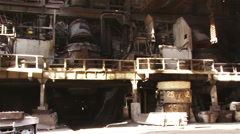 Type of metallurgical production - stock footage