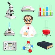 Stock Illustration of Science Icons Realistic