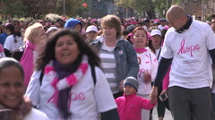 Toronto CIBC run for the cure marathon running event Stock Footage