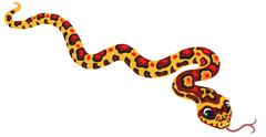 cartoon corn snake - stock illustration