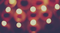 Bokeh of diya flame Stock Footage