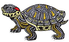 Red eared slider Stock Illustration
