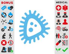 Micro Parasite Icon Stock Illustration