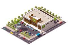 Stock Illustration of Vector isometric supermarket