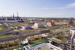 Refinery complex at summer daylight - stock photo