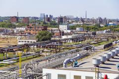Big refinery complex at summer daylight - stock photo