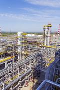 Stock Photo of Refinery complex at summer daylight