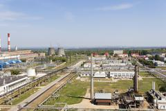 Stock Photo of Russian refinery complex at summer daylight