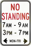 No Standing In Specified Time in Canada Stock Illustration