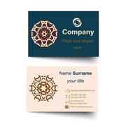 Modern simple light business card template - stock illustration