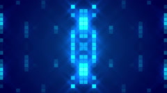 Blue abstract background, glowing particles squares, loop Stock Footage