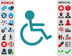 Stock Illustration of Handicapped Icon