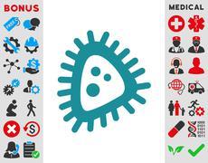 Micro Parasite Icon - stock illustration