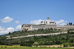 Basilica of San Francesco dAssisi Assisi Province of Perugia Umbria Italy Europe Stock Photos