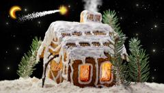 Christmas Gingerbread House - stock footage