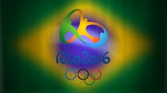 Rio Olympic Games 2016 Animated Graphic - stock footage
