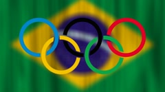 Rio Brazil Olympic Games 2016 Animated Graphic Stock Footage