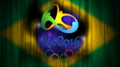 Brazil Rio Olympic Games 2016 Animated Graphic Stock Footage