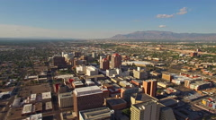 Aerial New Mexico Albuquerque Stock Footage