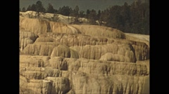 Vintage 16mm film, 1941, yellowstone travertine terrace, b-roll - stock footage