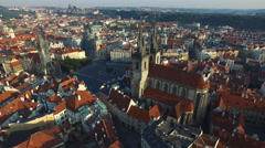 4K Aerial view of the Old Town Square, Prague Stock Footage