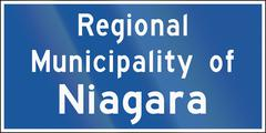 Regional Municipality Name Sign In Ontario - Canada - stock illustration