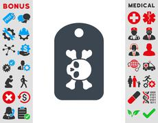 Morgue Mark Icon - stock illustration