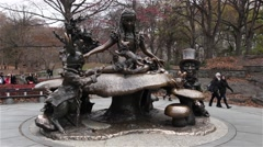 Alice in Wonderland in Central Park - stock footage