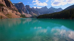 Beautiful Moraine lake in Banff National park, Canada - stock footage