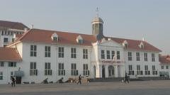 Dutch Colonial building in Batavia, Sejarah Museum,Jakarta,Java,Indonesia Stock Footage