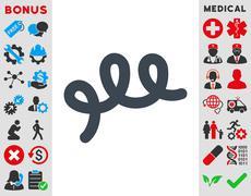 Spiral Bacillus Icon - stock illustration