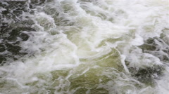 A torrent of water in the mountain river. Stock Footage