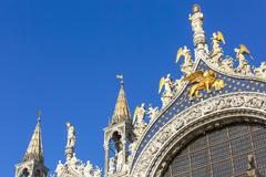Architectural detail of San Marco Cathedral Stock Photos