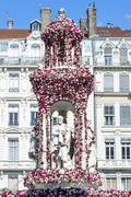Jacobins square during the 17th World Convention of Rose Societies in 2015 Lyon - stock photo