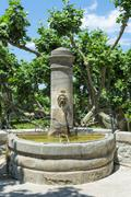 Fountain Gigondas Vaucluse Provence Alpes Cote dAzur France Europe Stock Photos