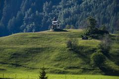 Hubertuskapelle chapel Hinterbichl Umbaltal Tauern National Park Hinterbichl - stock photo