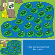 Little princess puzzle - stock illustration