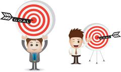 Marketing goal character Stock Illustration