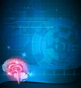 Human brain treatment - stock illustration