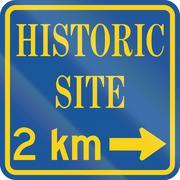 Historic Site In Canada Stock Illustration
